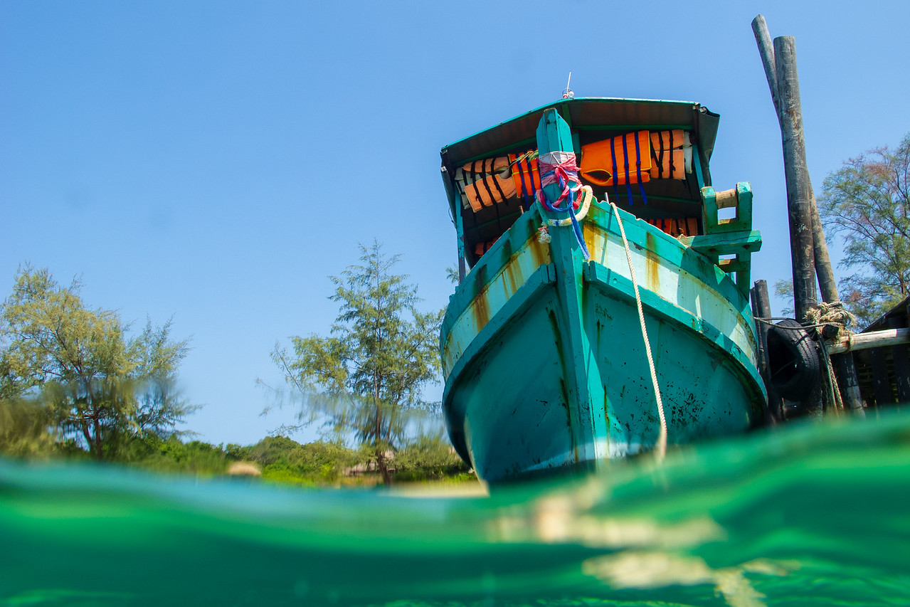 The Boat We Took From Sihanoukville to Lazy Beach at Koh Rong Samloem Island in Cambodia