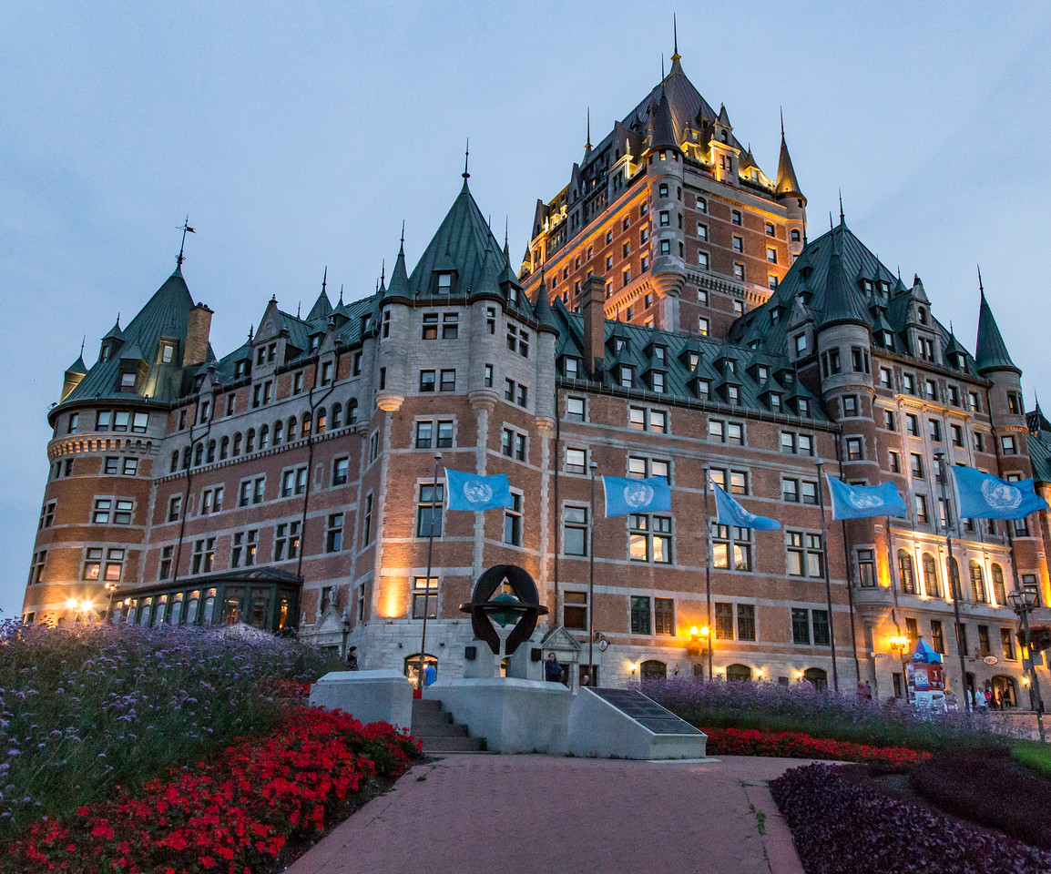Photo: Hotel Château Frontenac in Quebec City, Canada