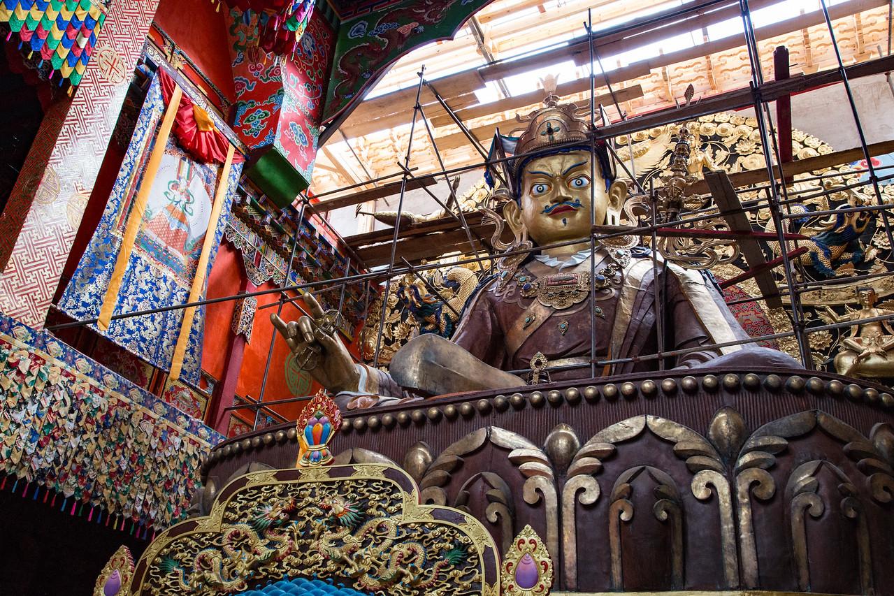 Guru Rimpoche in Zhiyun Buddhist Monastery near Lijiang, China