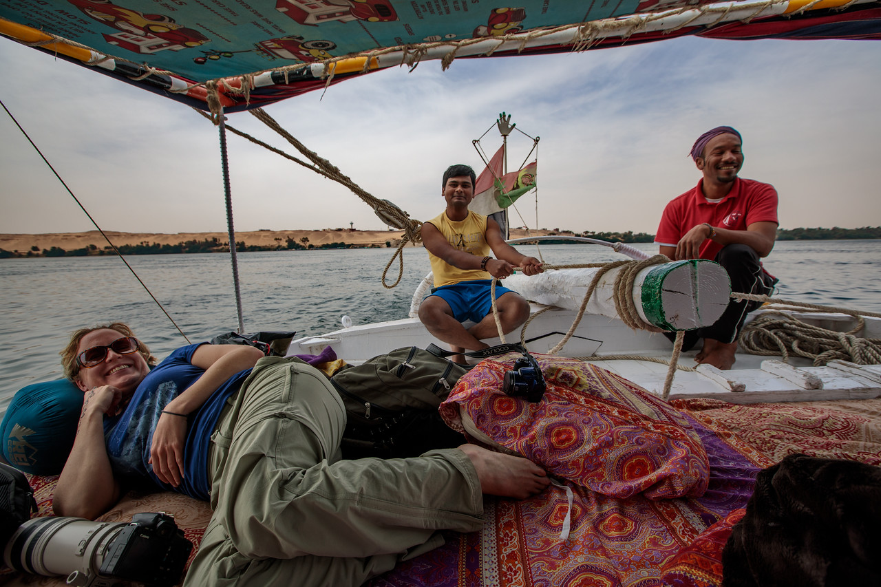 Nirmalya Sailing the Felucca on the Nile