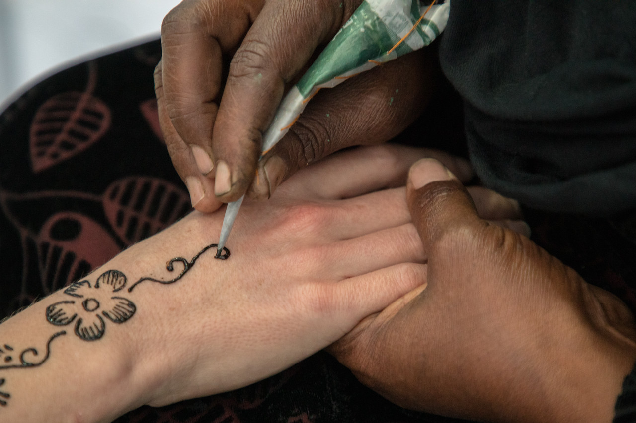 Getting a Henna Tattoo at the Nubian House on the Nile