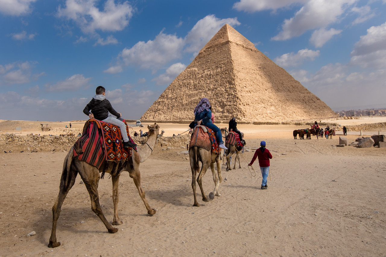 Picture of Riding Camels on Our Egypt Pyramids Tour