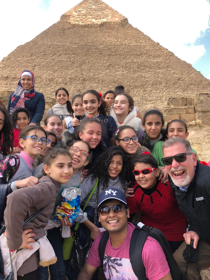 Making Friends at the Pyramids of Giza
