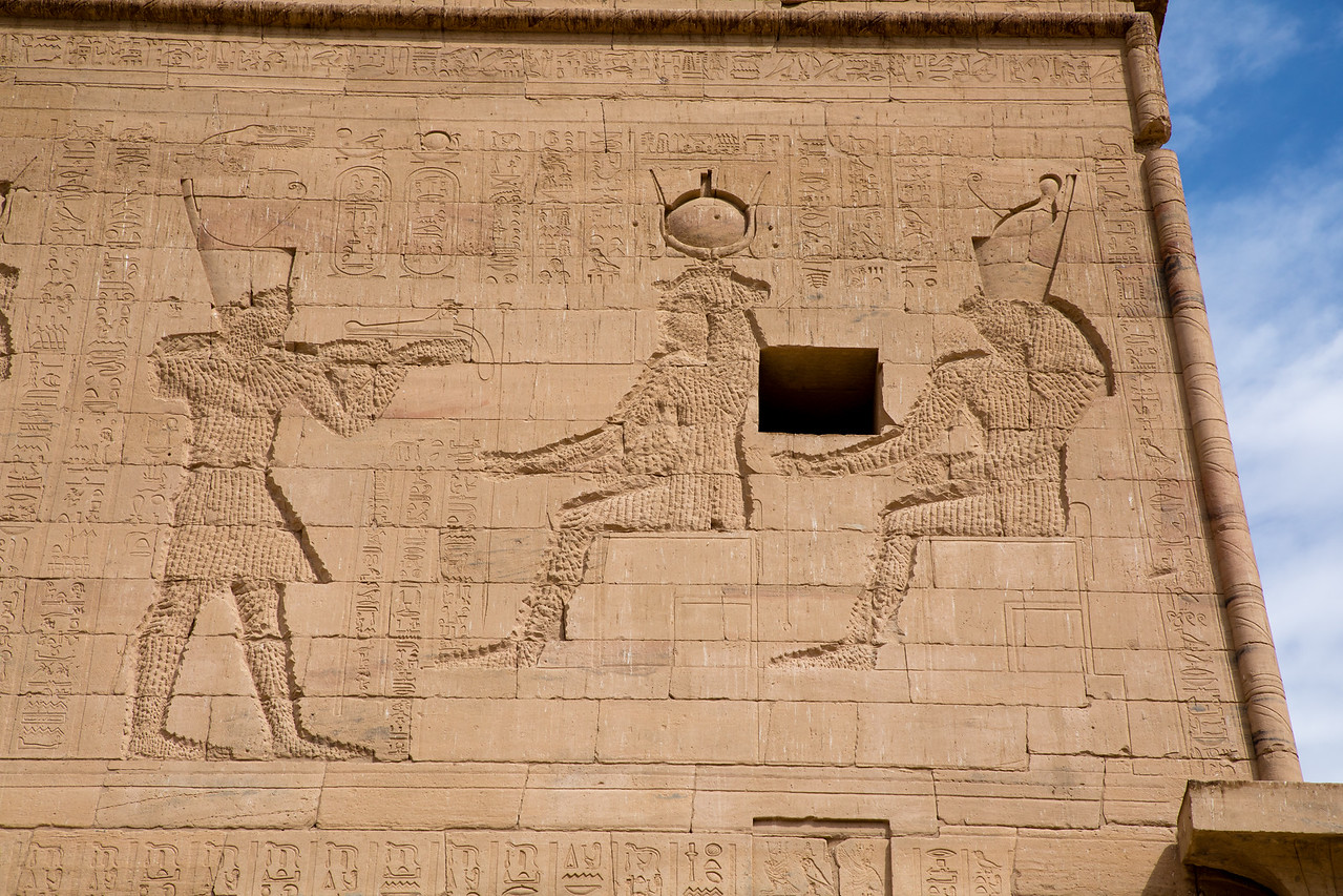 Defaced Reliefs on the Temple of Isis at Philae