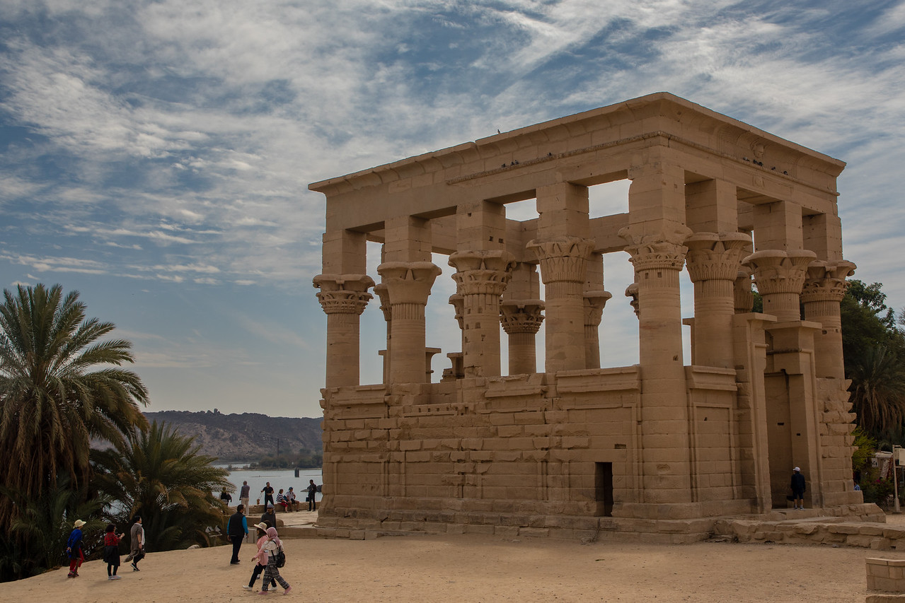 Trajan's Kiosk on Agilkia Island the Temple of Isis at Philae