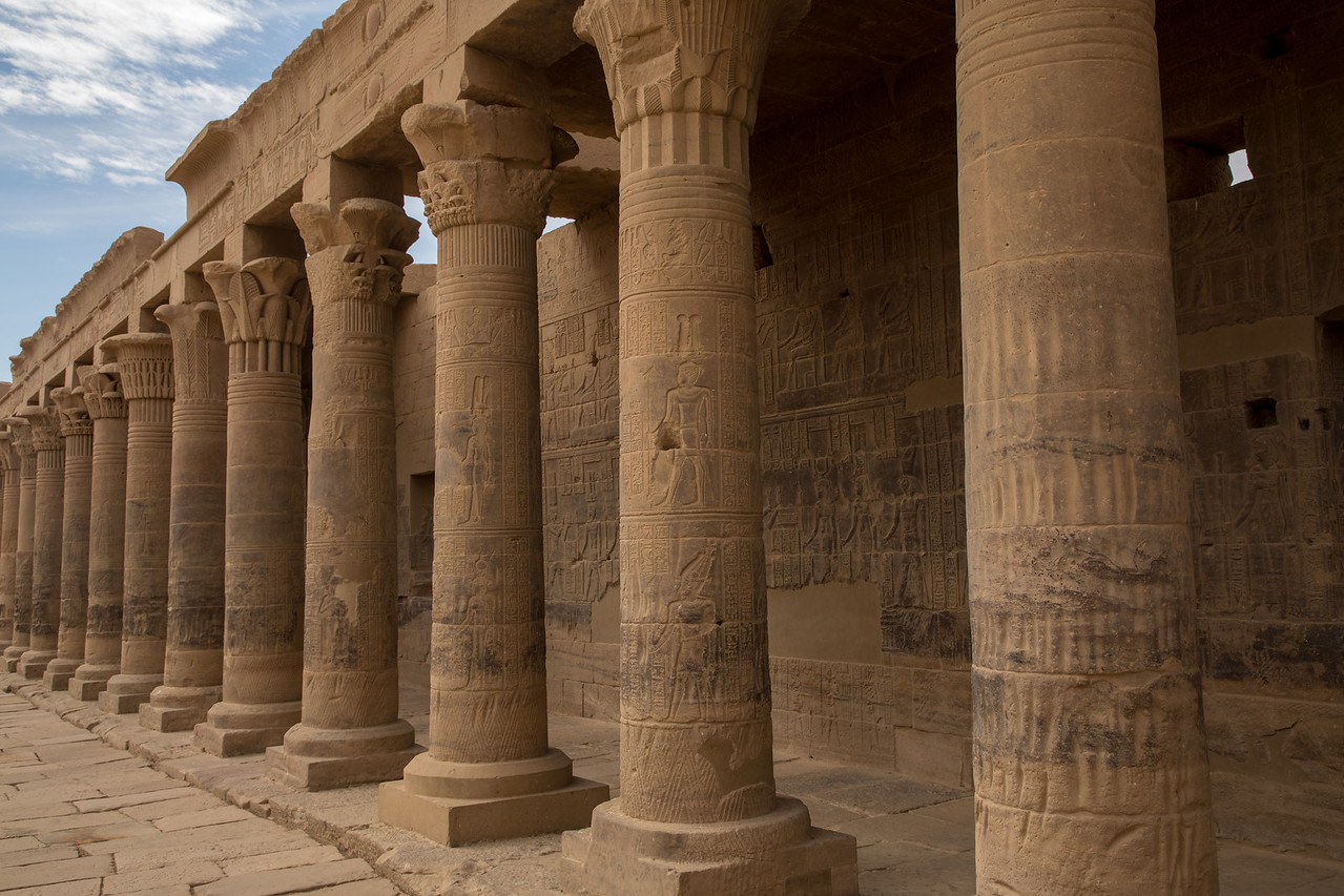 Main Courtyard of the Temple of Isis at Philae