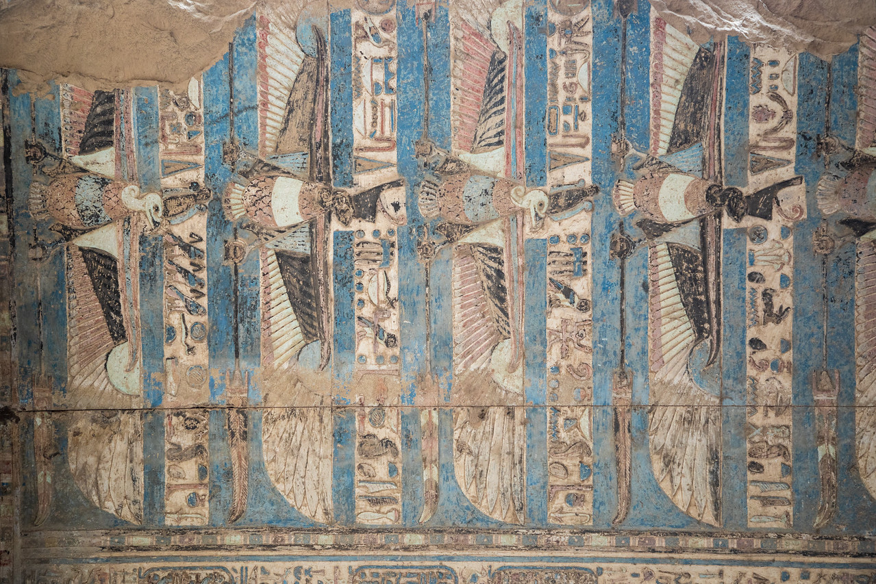 One of the Reliefs Inside of Kom Ombo Temple, with 2,000 Year Old Paint