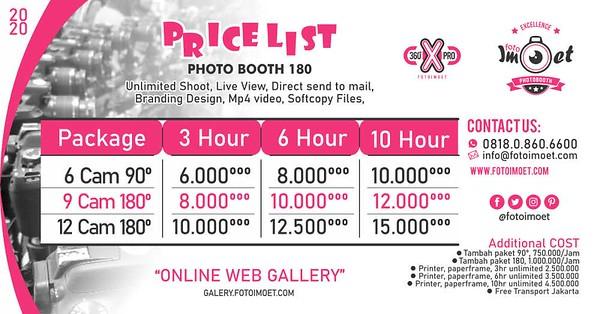 Harga Paket Photo Booth 180