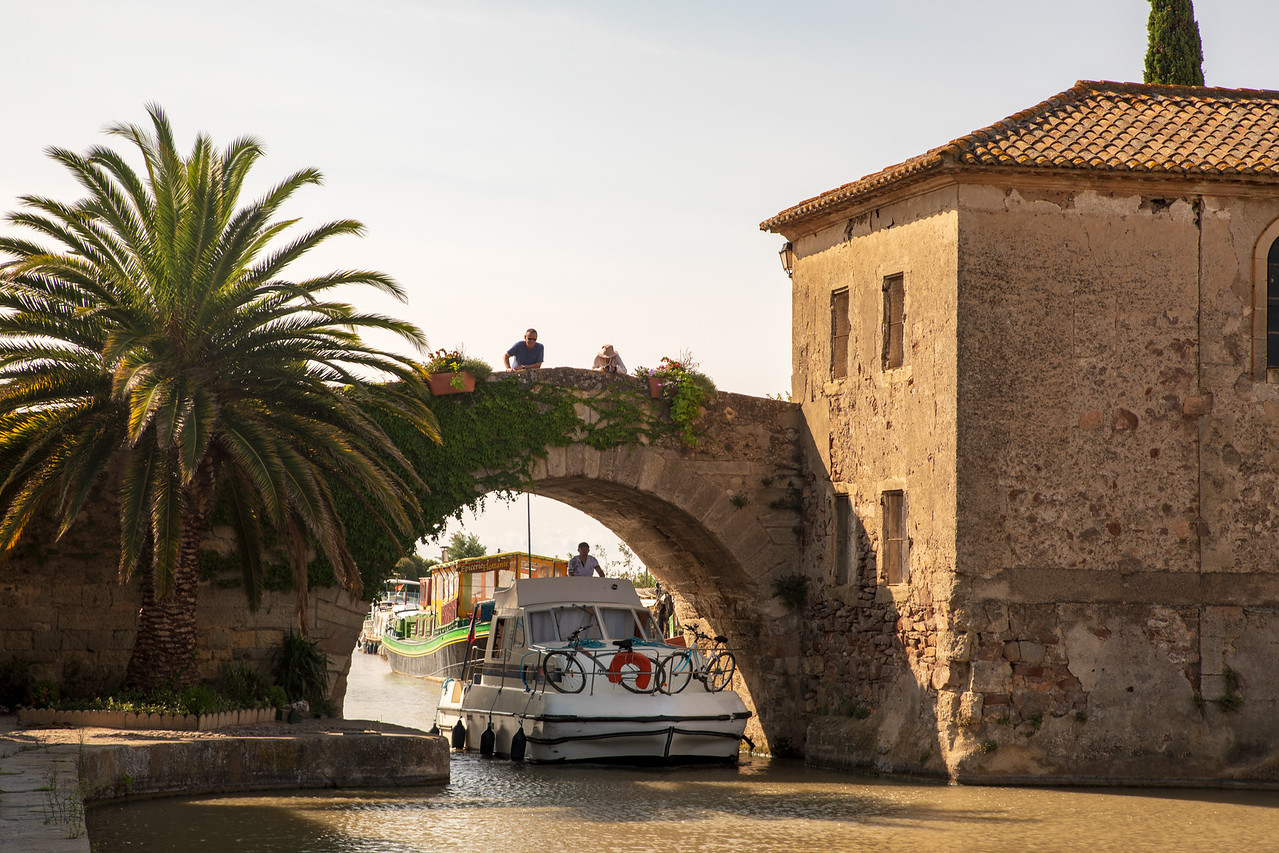 Barge Passing Through place Thomas Jefferson Visited on the Canal du Midi in 1787