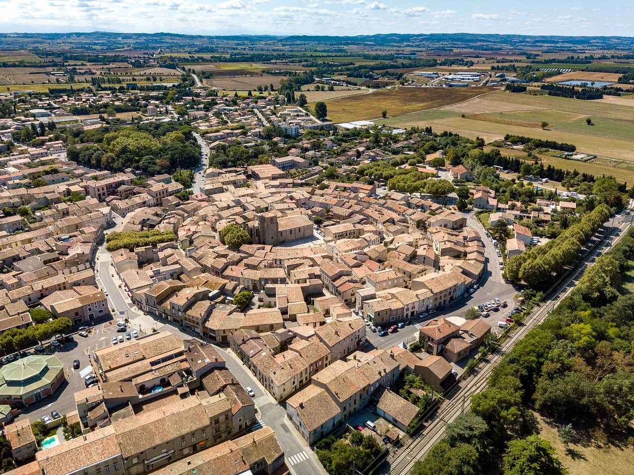 On the Canal du Midi, Bram France is the Largest, Concentric Circular town in Europe