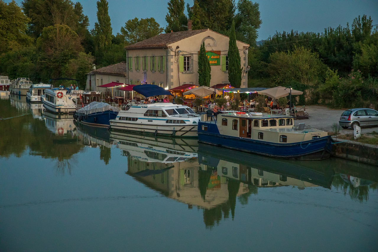 Photo of Parked in the Center of All the Action on the Canal du Midi in Bram, France