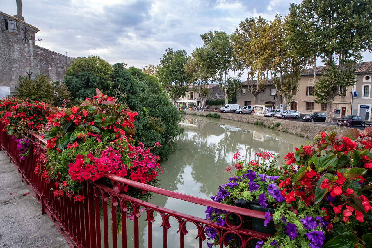 Bridge Over the Canal du Midi in Trebes, France