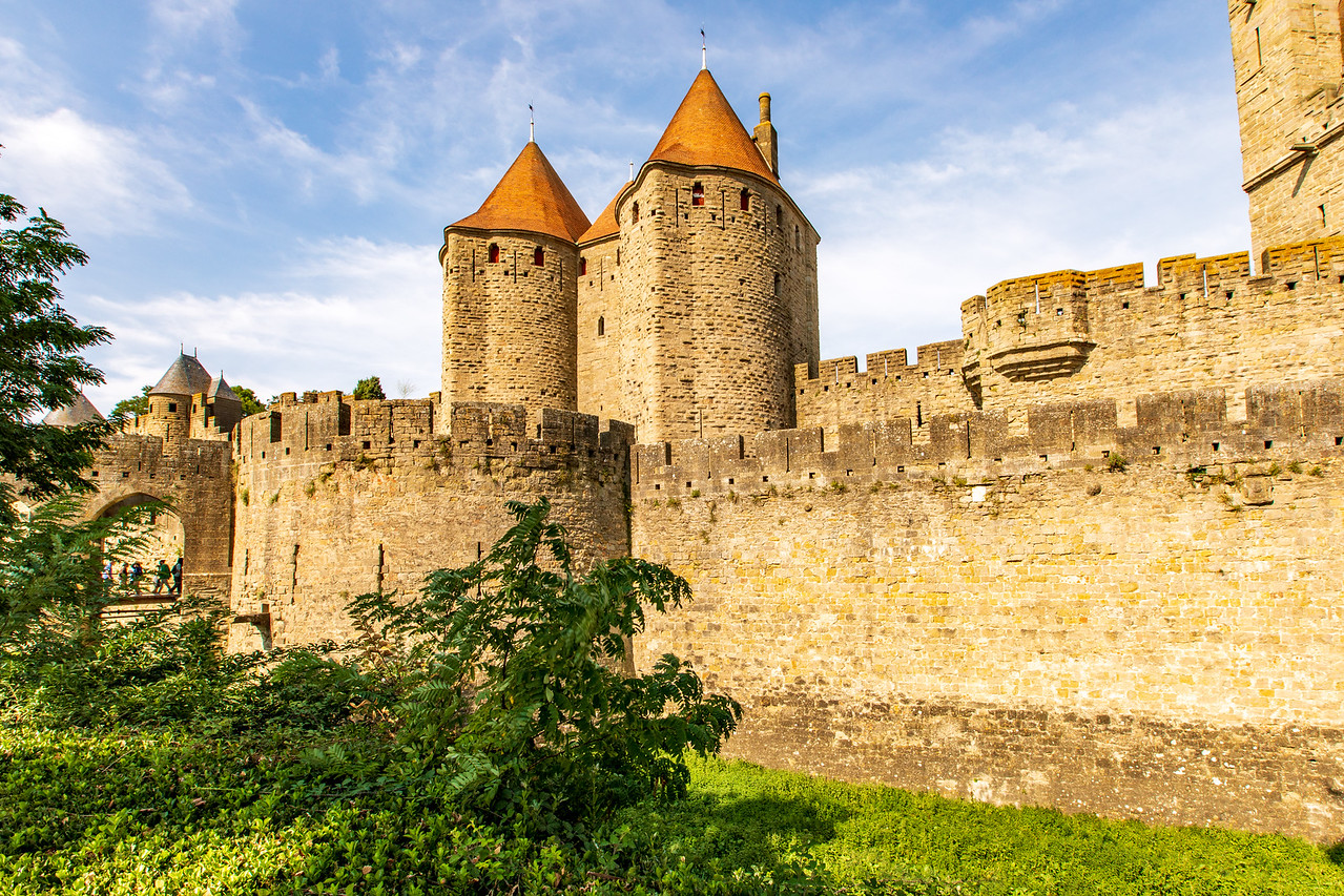 While on our Canal du Midi Cruise we found the Castle Walls in Carcassonne, France