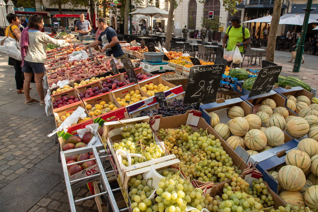 The Market at Carcassonne, France