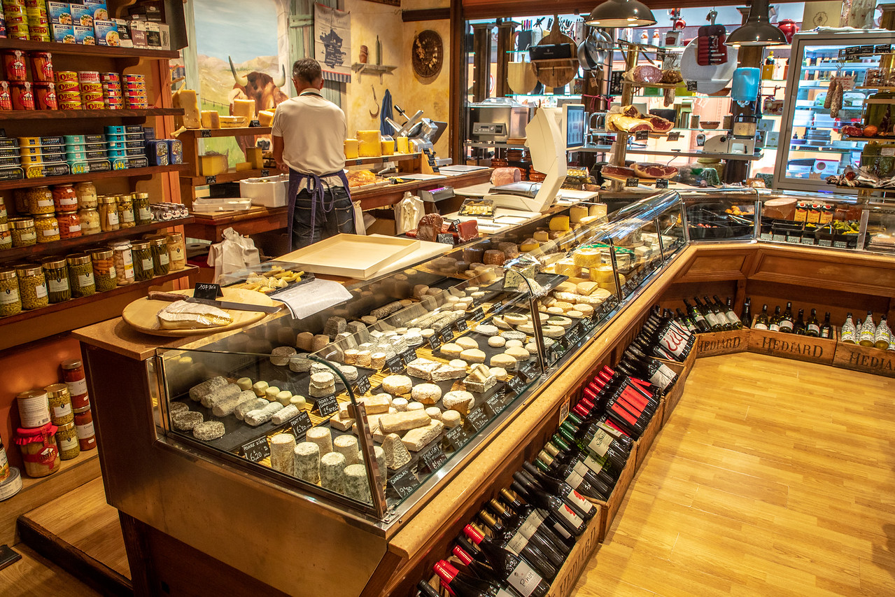 Cruising Canal du Midi Cheese Shop in Carcassonne, France
