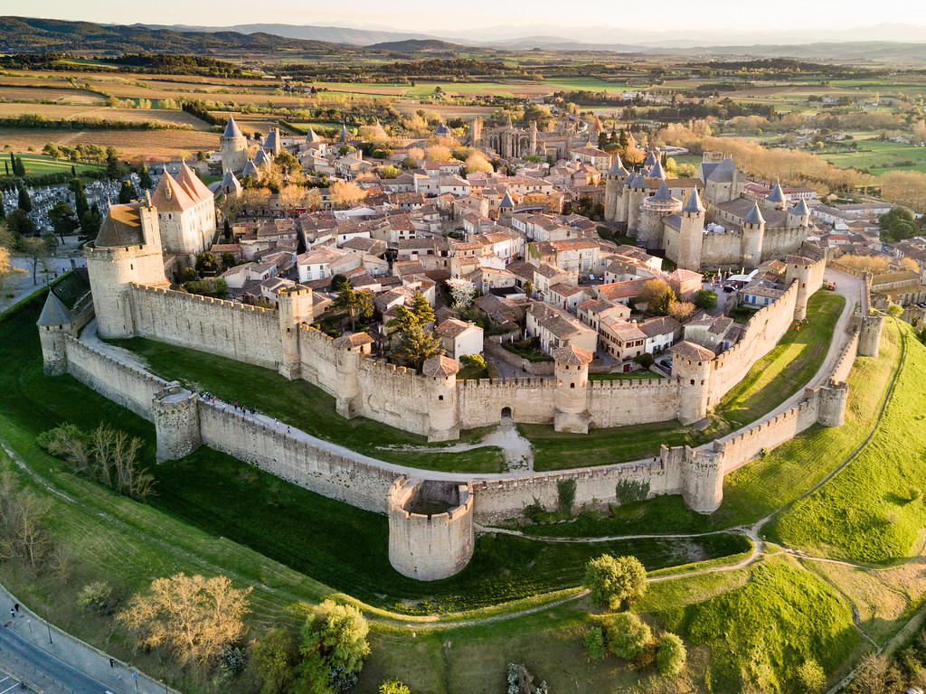 The Medieval Walled City of Carcassone, France