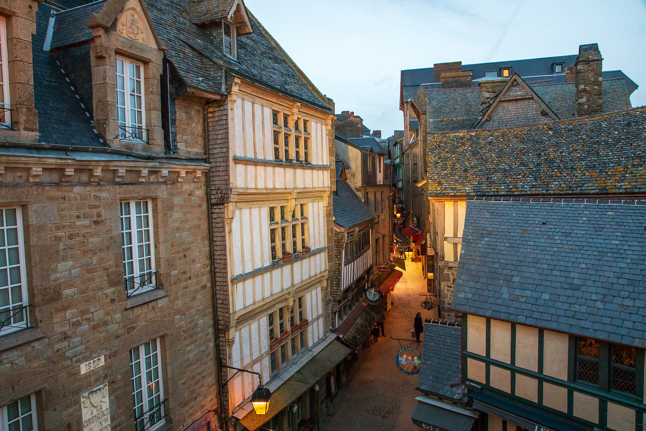 Image of Grand Rue in Mont St Michel