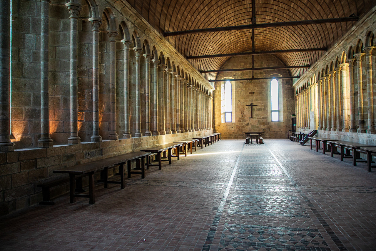Image from Inside the Abbey at le Mont Saint Michel