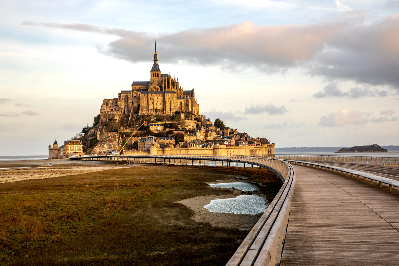 Photo: Le Mont-Saint-Michel in Normandy, France