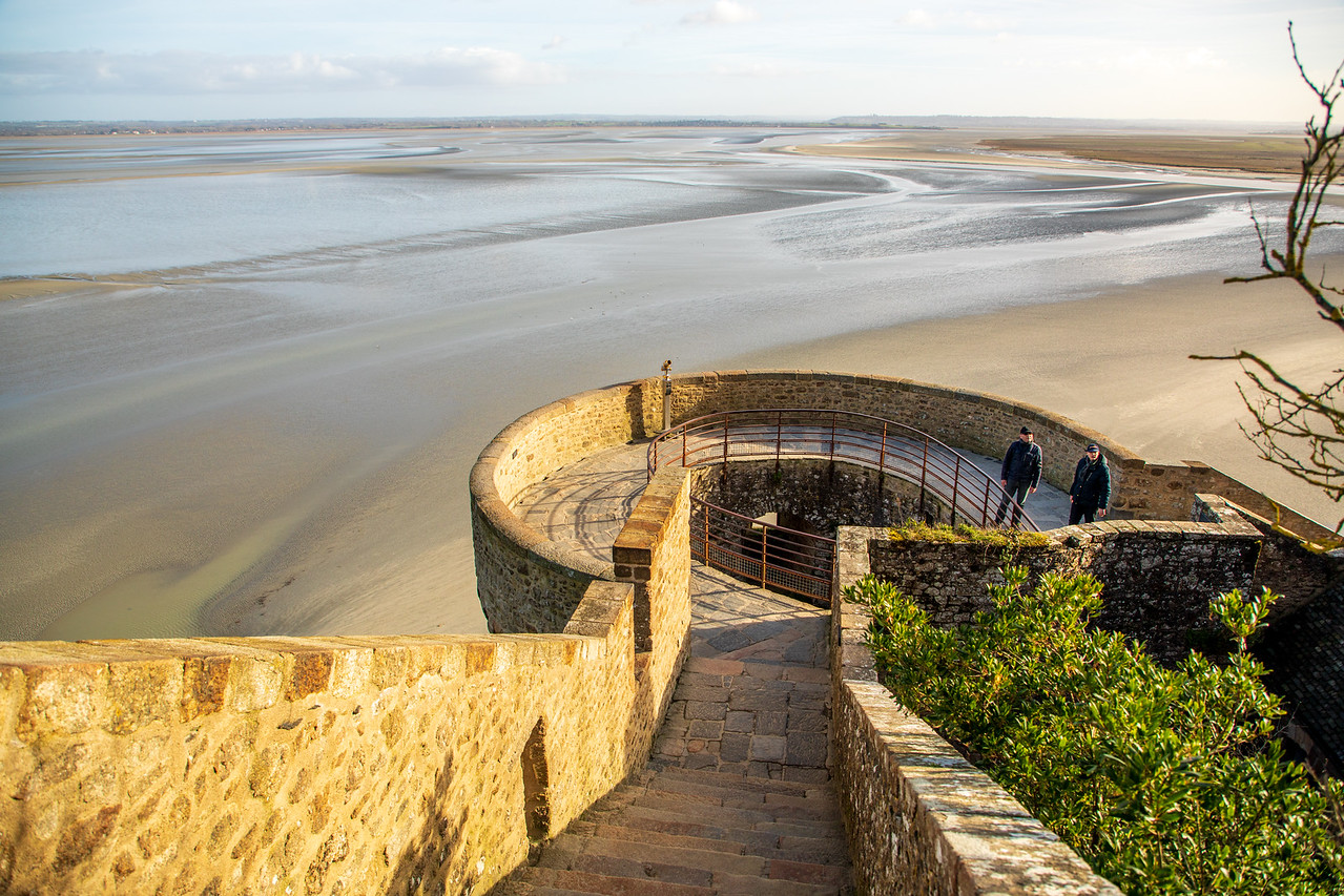 Image of the Bay of Biscay From a Rampart at Mont Saint Michel Castle