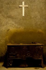 White Cross On Chapel Wall