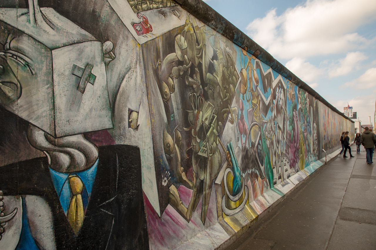 Graffiti Art on the Berlin Wall at East Side Gallery
