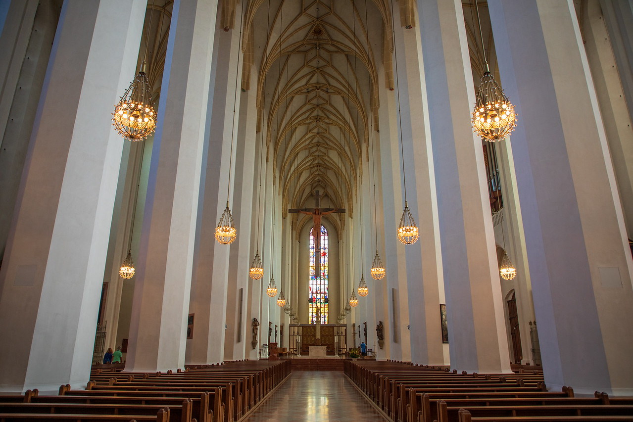 Interior of Frauenkirche (Cathedral Church of Our Lady)