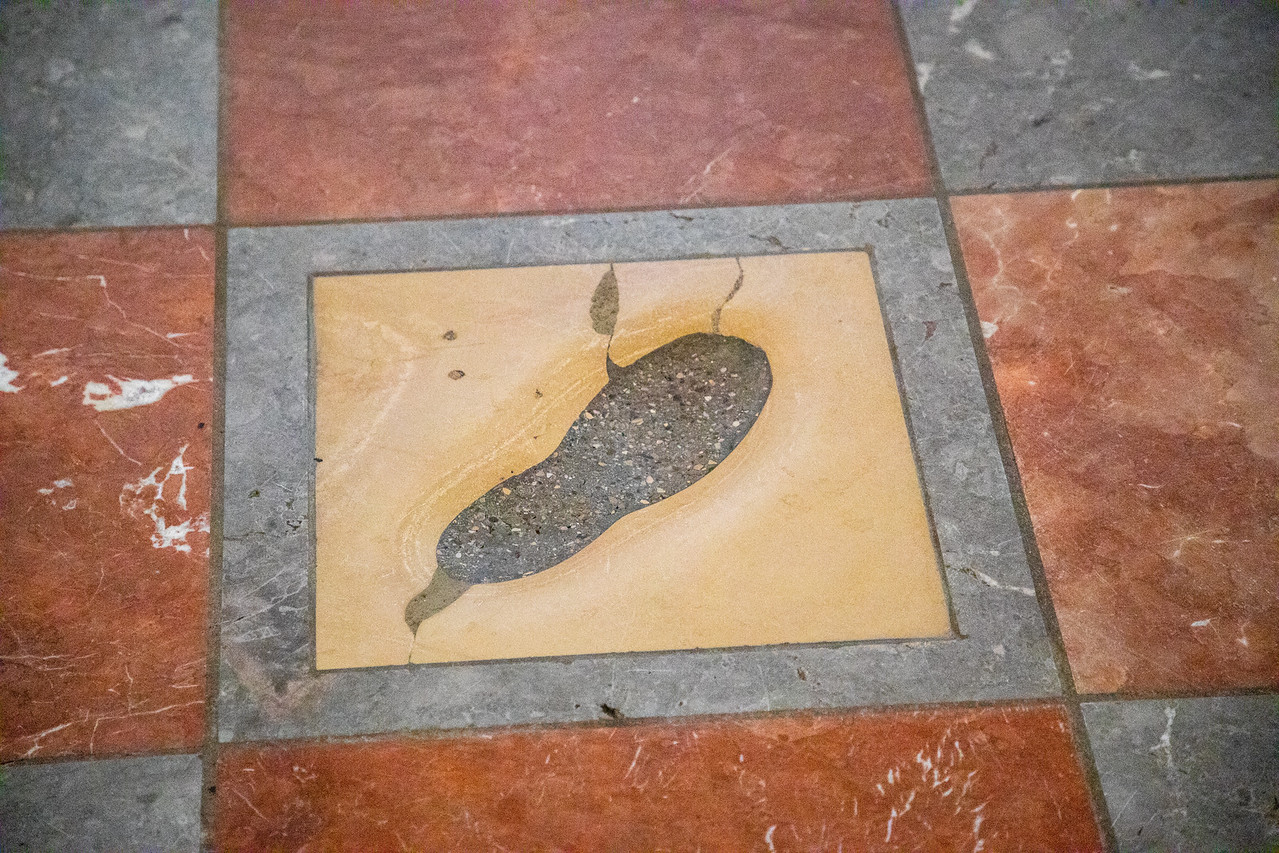 The Devils Footprint Inside of Frauenkirche (Cathedral Church of Our Lady)
