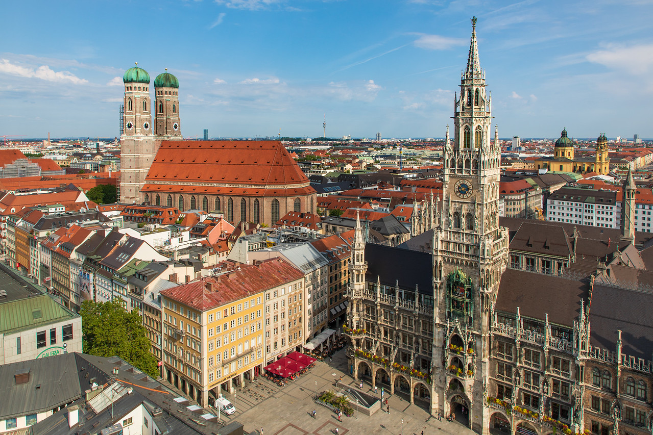 View of Munich From Kirche St. Peter