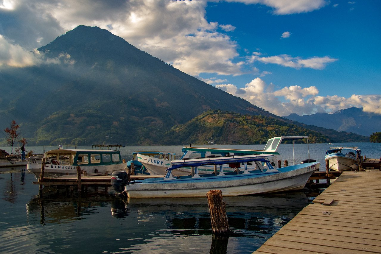 Water Taxi on the Shore of Lake Atitlan, Guatemala