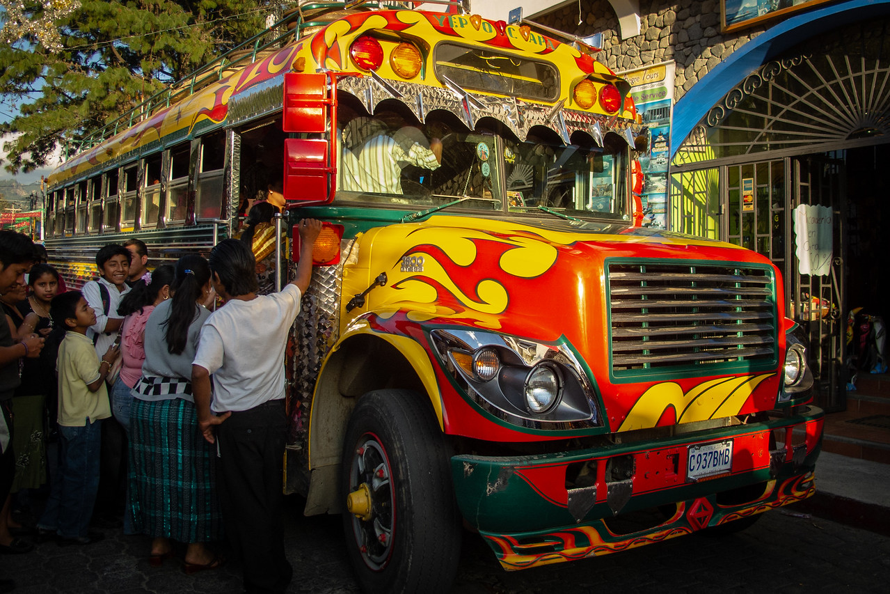 Photo: Guatemalan Chicken Buses
