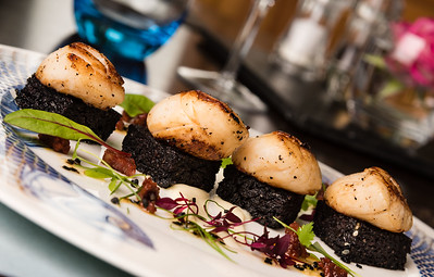 Black Pudding and Scallops