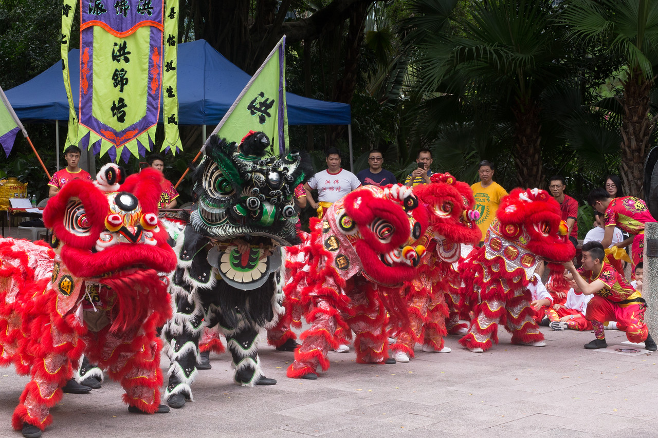 Image of Lion Dancing in cost of living Hong Kong post