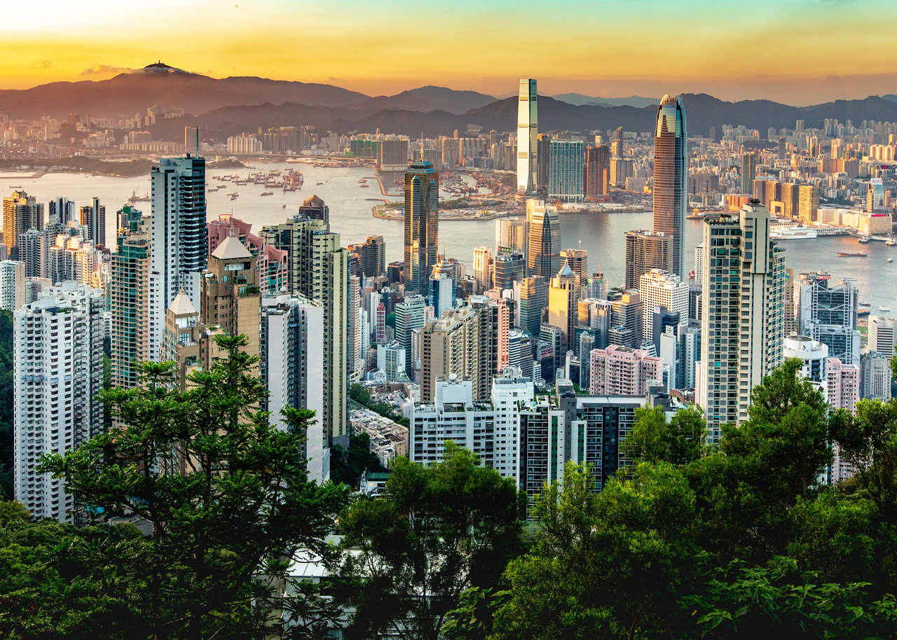 cost of living in Hong Kong skyline image