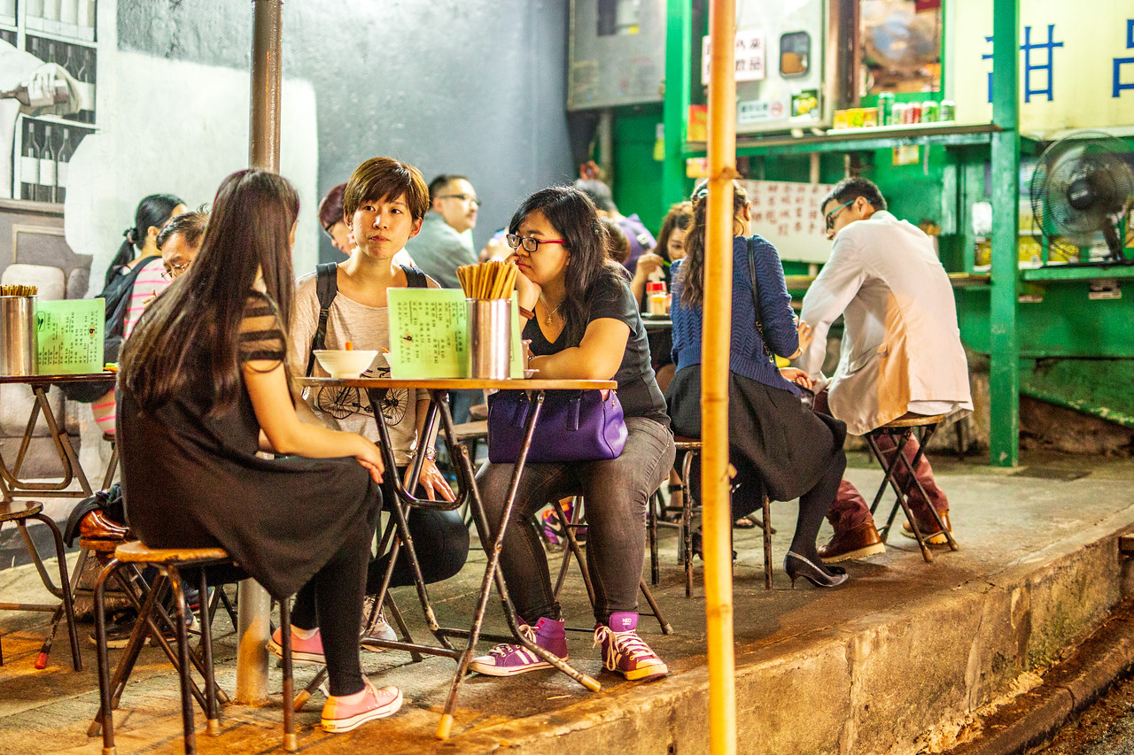 Simple, but delicious, street restaurant in Hong Kong