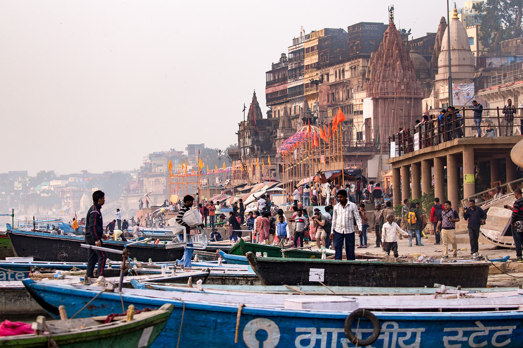 Life on the Ganges in Varanasi, India