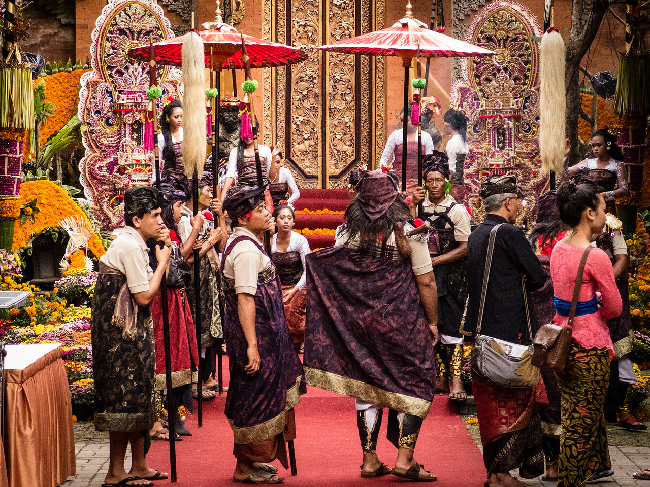 Royal Procession at the Balinese Wedding