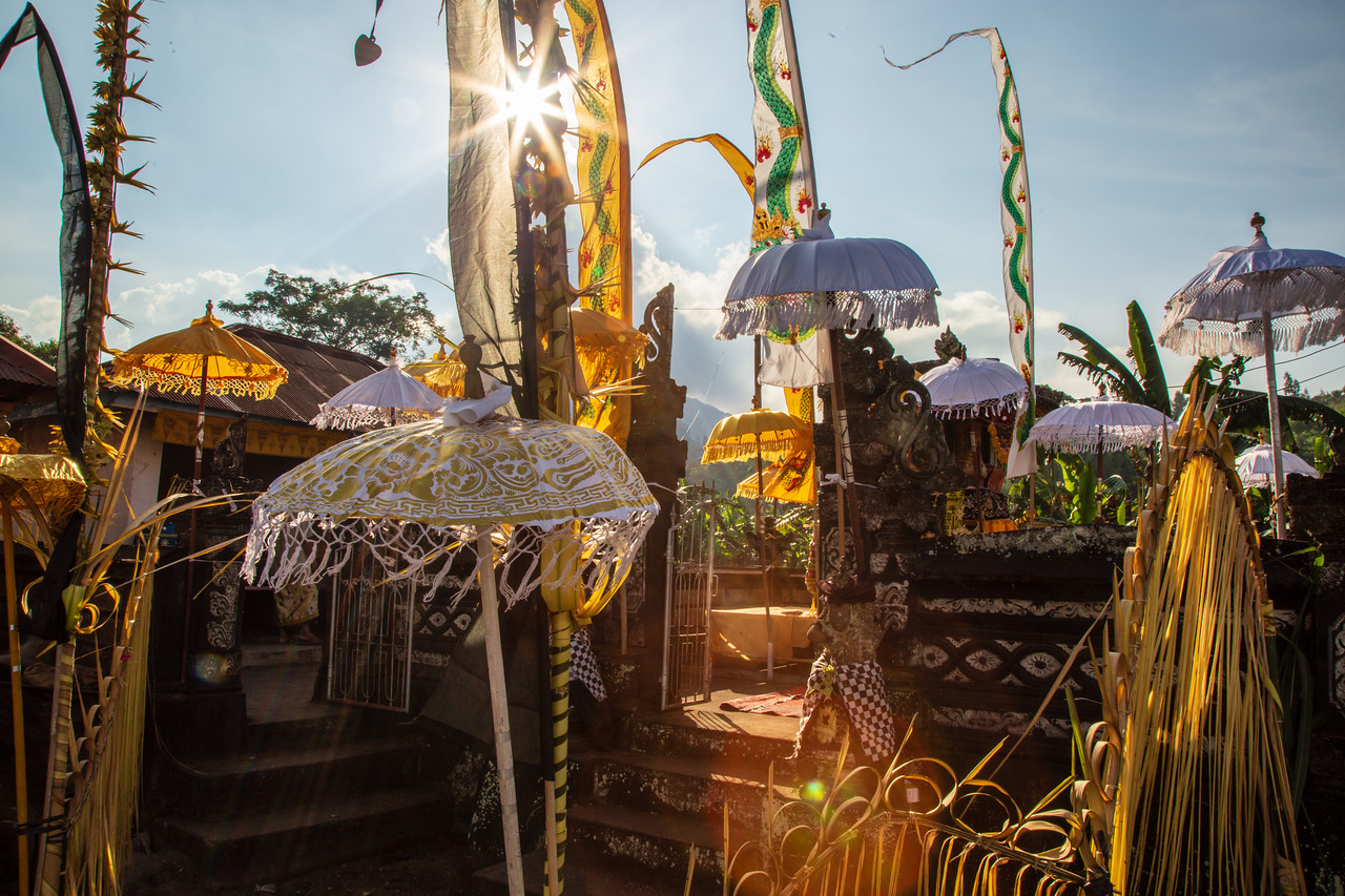 The Family's Private Temple in Songan, Indonesia