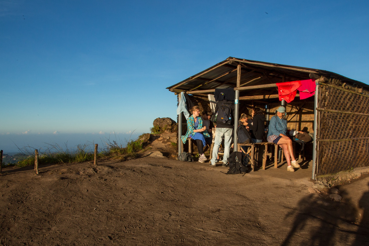 It Wasn't Much, But It Was Great to Find a Restaurant at the Top of Mount Batur