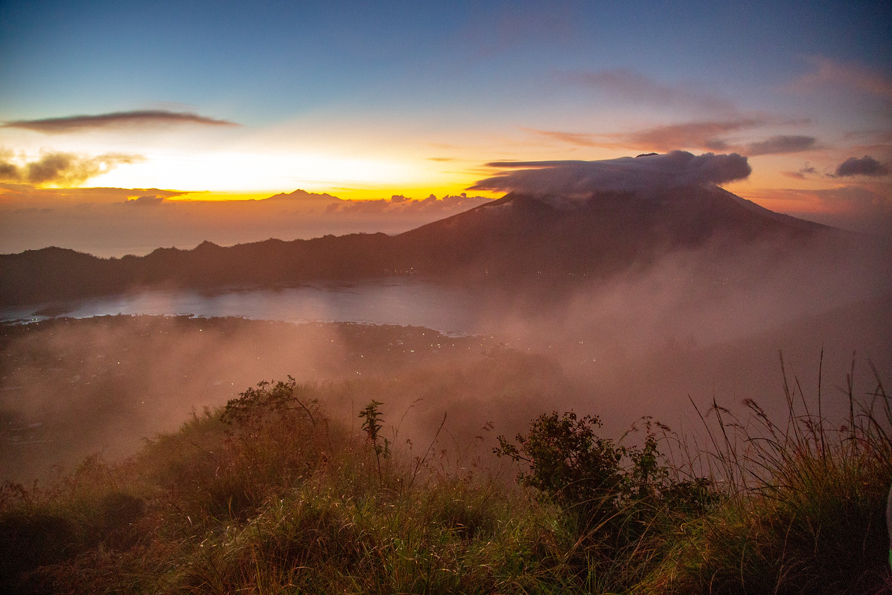 First Light Climbing Mount Batur