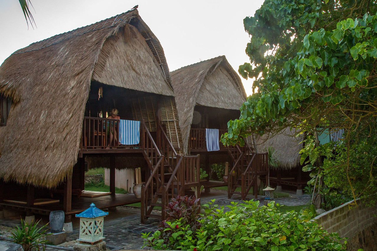 Our Room at Dream Beach Huts on Nusa Lembongan Bali