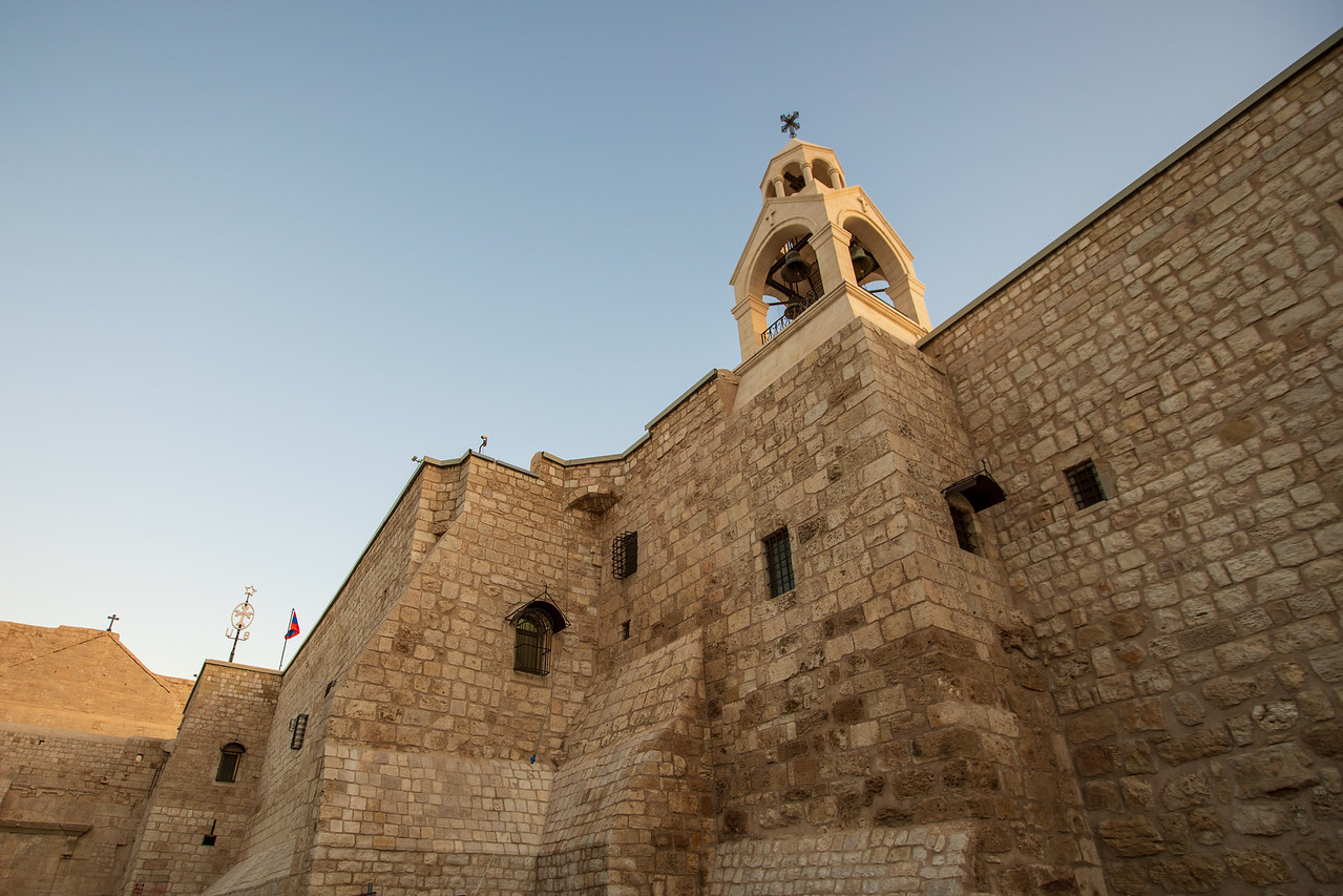 Exterior of the Church of the Nativity a must see when visiting Bethlehem