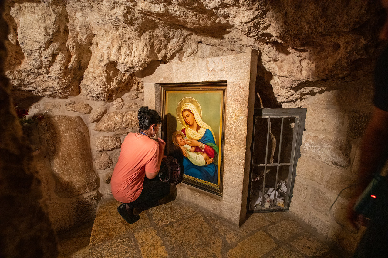 Inside the Chapel of the Milk Grotto in Bethlehem