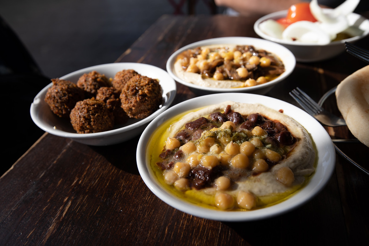 Lunch At The Ben Sira Hummus Bar was one of our favourite things to do in Jerusalem