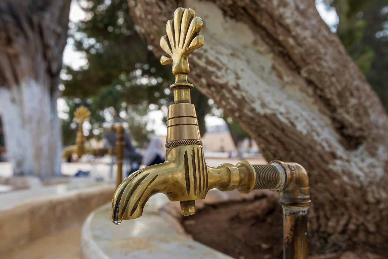 Water For Cleansing Prior to Praying at the Temple Mount