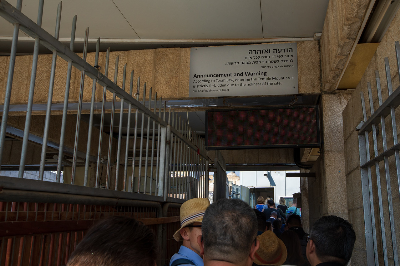Sign Warning Jews Not To Enter the Temple Mount