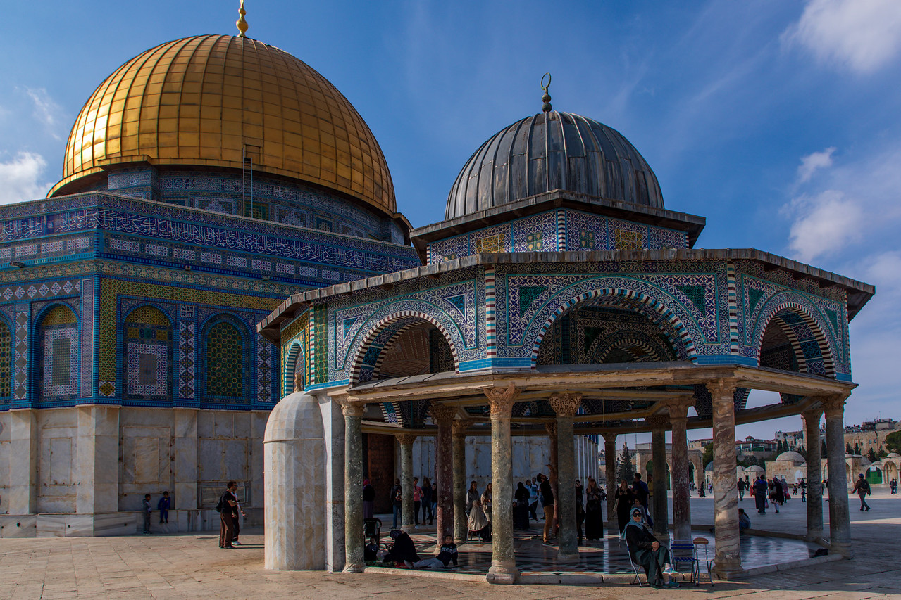 Gazebo Near the Dome of the Rock Mosque