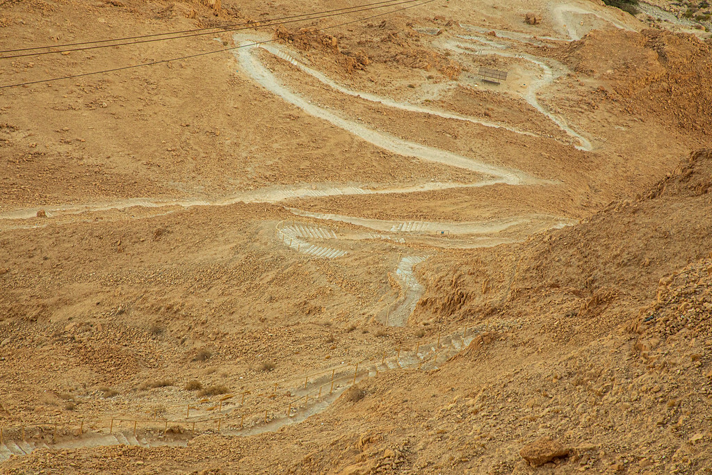 The Snake Path Up To The Masada