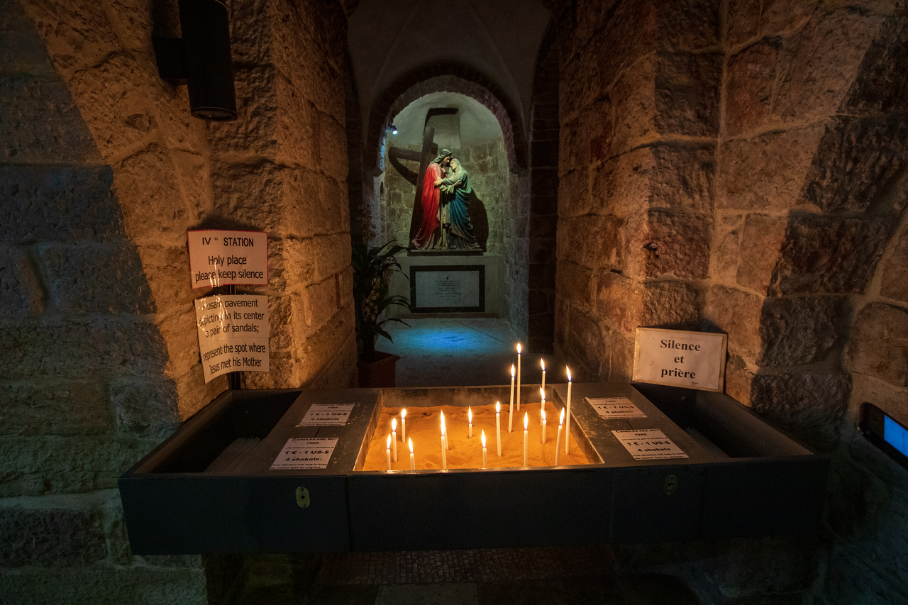 Chapel in Armenian Church of Our Lady of the Spasm at the Fourth Station of the Cross