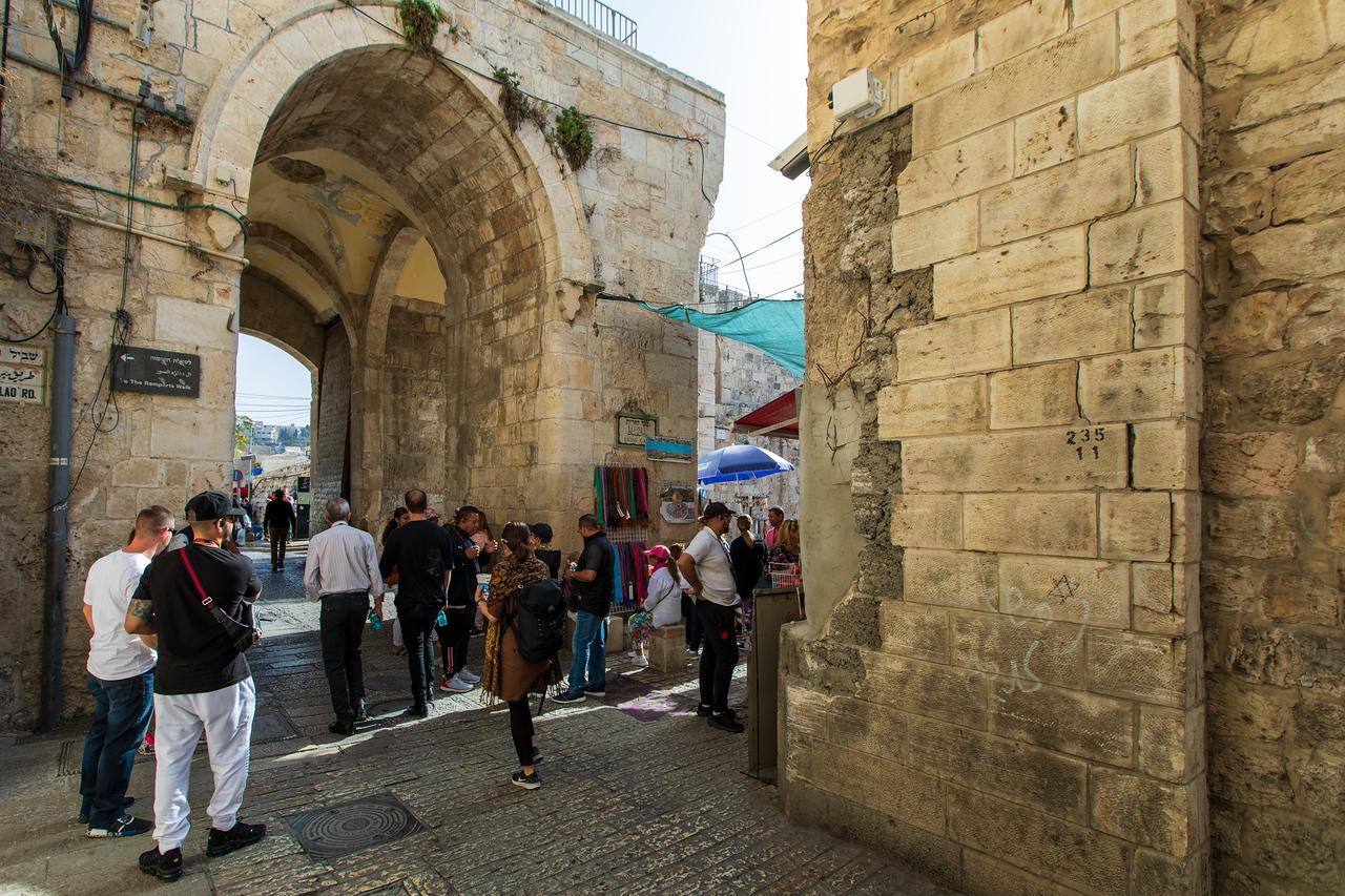 Lion's Gate Entrance to the Via Dolorosa in Jerusalem